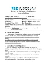 Syllabus intro int. bus sem 3-2012
