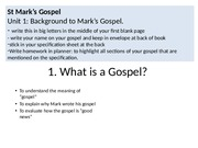 1.1 What is a Gospel