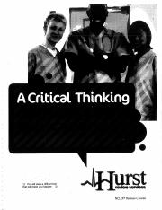 Hurst Review Critical Thinking