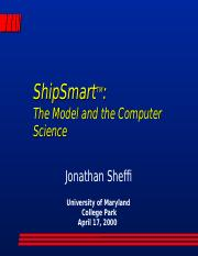 ShipSmart Lecture 2000-04-17.ppt