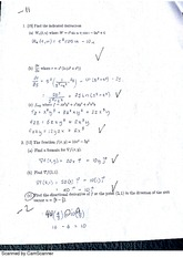 Exam 2 Part 1 NO calculator