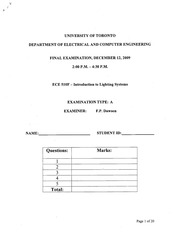 ECE510 Official Fall Exam 2009