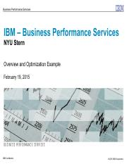 IBM BPS - NYU Discussion_021915