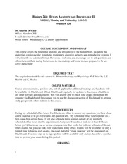Biology 244 fall 2013 syllabus