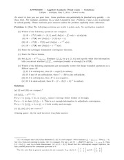 Final Exam Solution on Applied Analysis 2