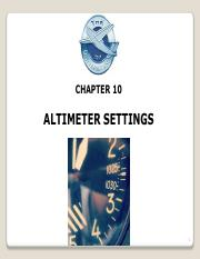 CH-10 Altimeter-Setting
