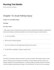 Chapter 15 Acute Kidney Injury Nursing Test Banks.pdf
