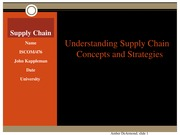ISCOM 476 Week 5 Individual Supply Chain Operations Presentation