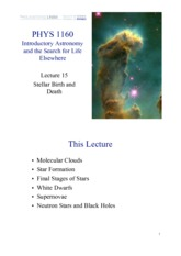 Lecture 15 — Stellar Birth and Death (white background)