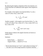 Wave Functions - Notes