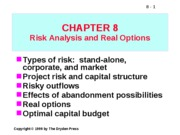Real Options & Risk Analysis ppt