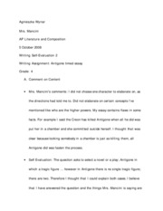 antigone essay assignment Antigone essay help perfect for students who have to write antigone essaysproviding you quality consultancy service of assignment editing and.