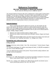 Bio 219 Reference Formatting Fall 2016.docx