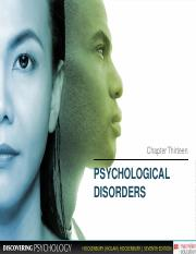 Chapter 13 Psychological Disorders