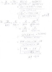 System of Equations Review Answers