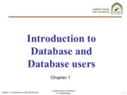 Chapter1_Introduction to Database and Database users