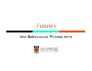 Week 12_Futures and Behavioural Finance