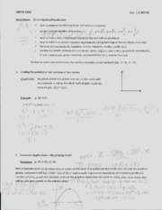 Math 1260 Basic Calc Notes 13