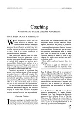 coaching - the technique to increase employee performance
