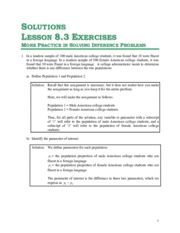 Solutions for Unit 8 - Lesson 8.3