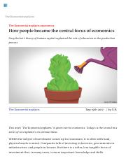 How people became the central focus of economics.pdf