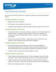 Event Planning Promotion Checklist