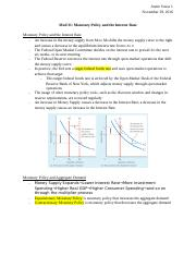Mod 31_ Monetary Policy and the Interest Rate.docx