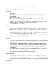 Essay 1 on an advertisement  OUTLINE