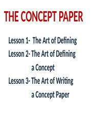 writing concept paper