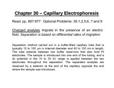 Chapter 30 – Capillary Electrophoresis