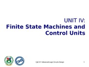 Unit IV Finite State Machines and Control Units