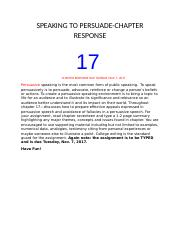 SPEAKING TO PERSUADE-CHAPTER 17 RESPONSE (1).docx