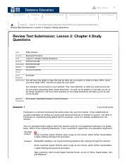 Chapter 4 Study Questions 1