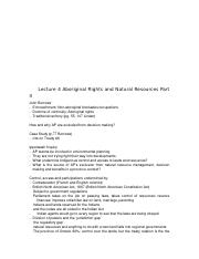 Lecture 4 Aboriginal Rights and Natural Resources Part II.docx