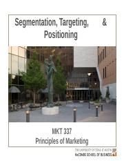 MKTG 8 - Segmentation, Targeting & Positioning - Key Slides