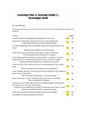 Learning Plan 1 SCAVENGER HUNT