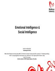 Lecture 8 Emotional & Social Intelligence