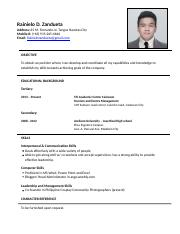 Applying Resume july 15