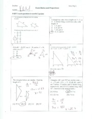 Ratios and Proportions Exam Solutions