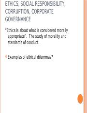 MGT 340 - Ethics and Social Responsibility