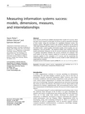 Measuring information systems success