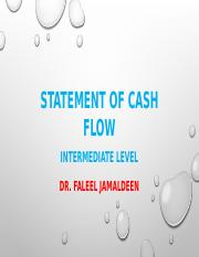 chapter 3 part IIcash flow statement