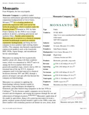 Monsanto - Wikipedia, the free encyclopedia