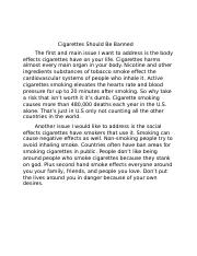 Cigarettes Should Be Banned.docx