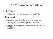 Evidence Based HRM part1