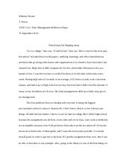 Time Management paper