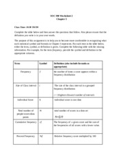 SOC 390 Worksheet 2