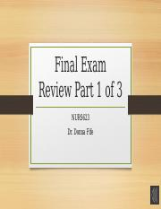 Adult 1 Exam review part 1 of 3