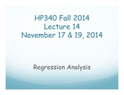 HP340 Lecture 14 - Regression