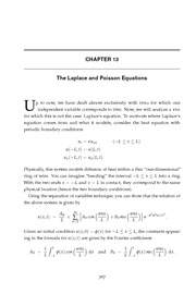 Ordinary & Partial Differential Equations - Reynolds (2000) - Chapter 13 - The Laplace and Poiss